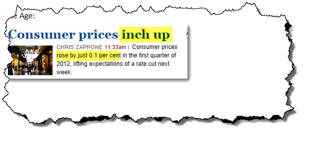 Is inflation up or down if prices are up?