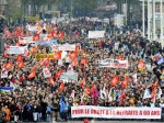 Large protests in France, over pension issues.