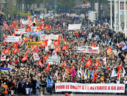 Financial Planning Perth : Large protests in France, over pension issues.